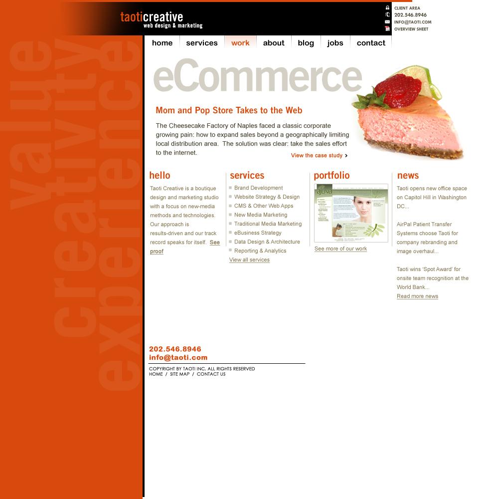 A History of Taoti Creative's Websites 12