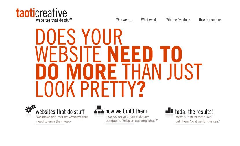 A History of Taoti Creative's Websites 13