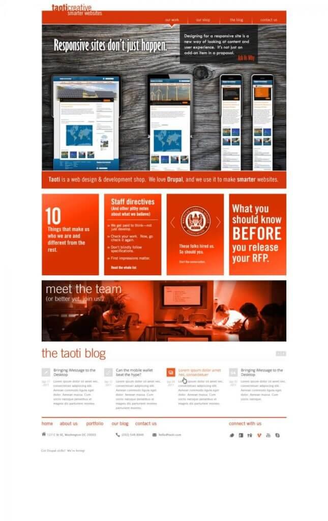 A History of Taoti Creative's Websites 14