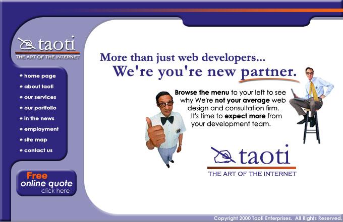 A History of Taoti Creative's Websites 2