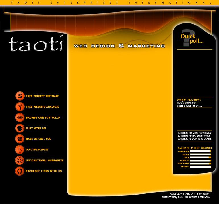 A History of Taoti Creative's Websites 7