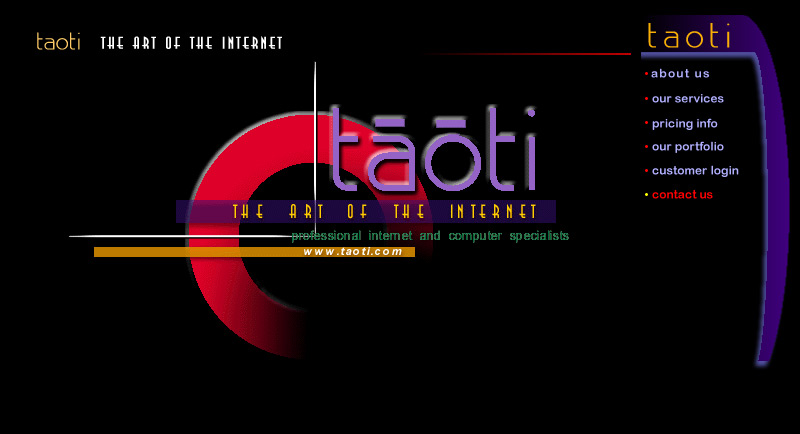 A History of Taoti Creative's Websites