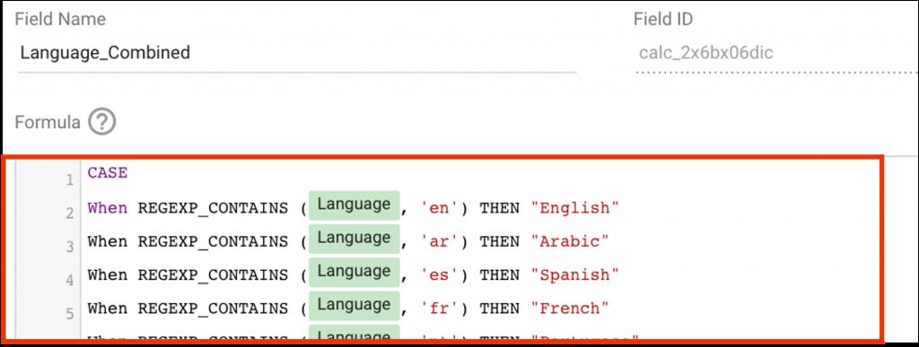 Turning Language Codes to Language Names in Google Data Studio 2